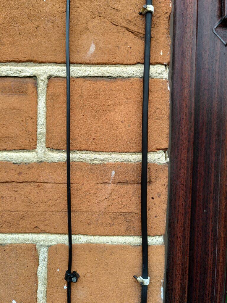 Comparison of older copper cable and new fibre cable.